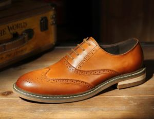 Men Shoes Leather Footwear Casual Oxford Round Toe Shoes (AKPX17) pictures & photos