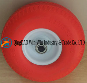 4.10/3.50-4 PU Wheel for Wheel Barrow pictures & photos
