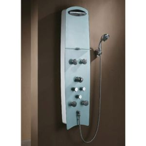 Tempered Glass Shower Panel with White Color pictures & photos