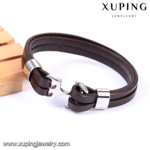 Bangle-227 Newest Fashion Xuping Stainless Steel Jewelry Leather Bangle pictures & photos