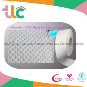 Sap Sheet Sanitary Napkin Super Absorbent Airlaid Sap Paper pictures & photos