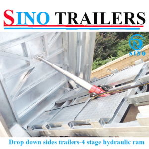 Drop Down Side Galvanized Tipping Trailer, Farm Trailer Tractor Tipper Trailer pictures & photos