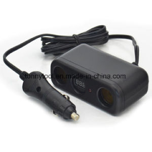 3 in 1 Power Outlet, 2 Car Cigarette Lighter and 1 Measure Voltage pictures & photos