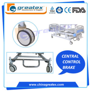 5 Functions Crank Manual Beds with Stainless Steel Central Braker pictures & photos