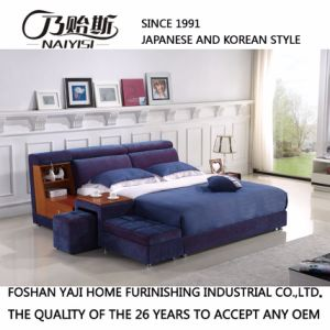 Blue Fabric Bed Hotel Living Room Modern Bedroom Furniture Fb8043b pictures & photos