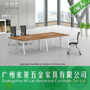 Modern Simple Design Straight Office Conference Meeting Table with Metal Foot pictures & photos