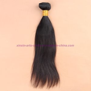 8A Unprocessed 3/4 Bundles with Lace Closure Brazilian Virgin Hair Straight with Closure Human Hair Weave with Closure pictures & photos
