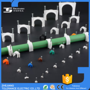 Nail Round Cable Clip with White and Black Color