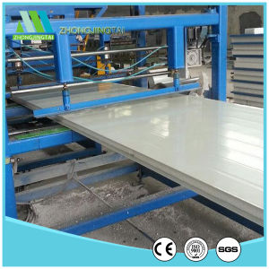 Light Steel Color Corrugated EPS Sandwich Panel pictures & photos