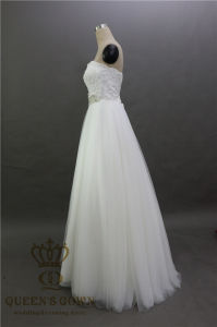 Tiered Lace A-Line Wedding Dresses Bridal Gown pictures & photos
