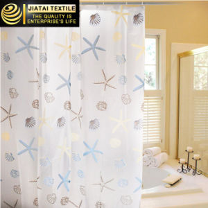 Funny Cheap Plastic Outhouse PEVA Seashell Shower Curtain