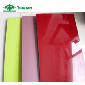 High Gloss Colorful UV Melamine Veneer MDF pictures & photos