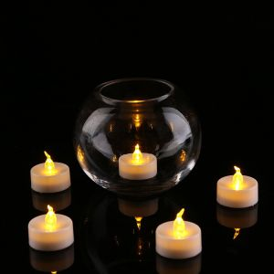 Operated Flameless LED Tea Light for Seasonal & Festival Celebration, Pack of 12, Electric Fake Candle in Warm White and Wave Open pictures & photos