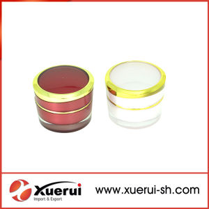 5g Golden Round Small Acrylic Cream Jar pictures & photos