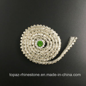 Flat Back Half Round Pearls Ceramic Chain Pearls Adhesive Strip (TS-039) pictures & photos