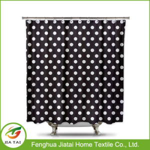 Polyester Fabric Colorful Polka DOT Hotel Shower Curtain pictures & photos