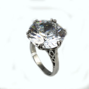 Fashion Jewelry 316L Stainless Steel CZ Crystal Ring pictures & photos