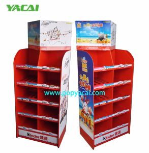 Pop Cardboard Floor Display Free Standing Display Unit for Chocolate pictures & photos