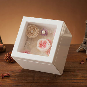 Wooden Preserved Flower Music Box for Christmas pictures & photos