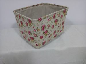 Canvas Rect Storage Basket Without Handles and EVA Inside pictures & photos