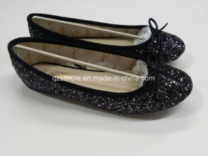 Good Quality Women Falt Ballerinas Shoes with Shiny Material pictures & photos