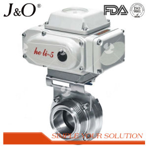 Sanitary Pneumatic Butterfly Valve with Stainless Steel Actuator pictures & photos