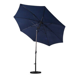 9′ Round Aluminum Pole Fiberglass Rib Umbrella with Crank pictures & photos