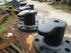 Marine T Head Round Base Mooring Bollard for Sale pictures & photos