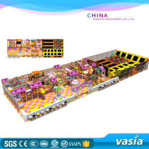 Vasia 2016 Indoor Commercial Playground Sets with Trampoline Park pictures & photos