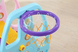 2017 Fashion Color Plastic Toys with Slide and Swing Set (HBS17024A) pictures & photos