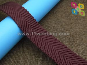 Dope Dyed Twisted Yarn Herringbone Twill Nylon Webbing for Bag pictures & photos