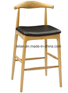 Tb Strong Beech Wood Leg Bar Stool High Chair (LL-BC076) pictures & photos
