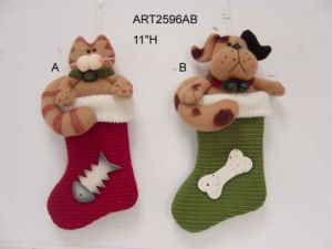 "11""H Cat and Dog Stocking Ornament, 2 Asst-Christmas Decoration pictures & photos"