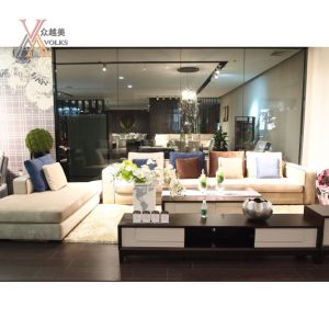 Blue and off-White Color Fabric Living Room Modern Sofa (GC812)