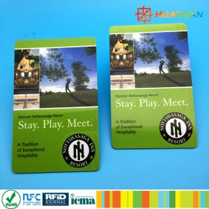 Hotel system 13.56MHz MIFARE Classic 1K RFID keycards pictures & photos