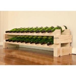 Stackable Modularack Wood Free Standing 16-Bottle Floor Wine Rack pictures & photos