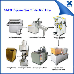 Tinplate Sheet Cutting Machine for 18L Square Can pictures & photos
