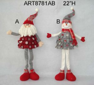 Standing Treeshaped Santa and Snowman-2asst Christmas Gift pictures & photos