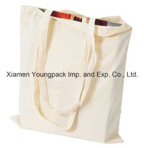 Promotional Reusable 100% Natural Cotton Long Handle Calico Bag pictures & photos