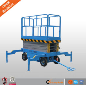 10m Aerial Scissor Work Platform Hydraulic Mobile Man Lift pictures & photos