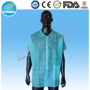 SMS Hospital Lab Coat with Cotton Knitted Cuff pictures & photos