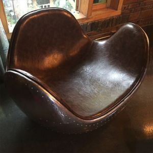 Modern Creative Rocking Aluminum Leather Chair pictures & photos