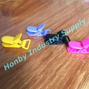 42mm Long Assorted Colors Plastic Clips for Pacifier Holders