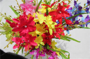 Home Decoration Silk Flower Colorful Artificial Flowers Orchid pictures & photos