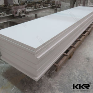 Building Material 6mm 100% Pure White Acrylic Solid Surface pictures & photos
