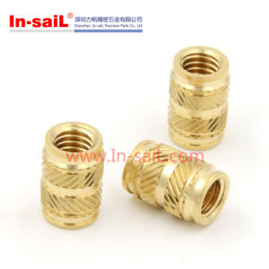 Brass Threaded Insert Knurled Nut of Fitting Parts pictures & photos