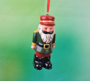 Set of 4 Hanging Soldiers Christmas Tree Decorations Ceramic Decorative Ornament pictures & photos