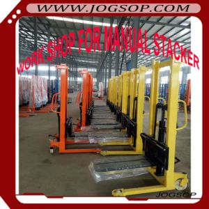 Manual Lifting Pallet Stacker 1, 1.5 2t with Adjustable Width pictures & photos
