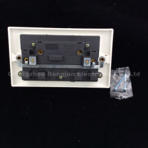 ABS Copper Double 13A Switch Socket with Neon (WS6336SDL) pictures & photos