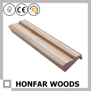 European Style White Wood Door Frame Moulding pictures & photos